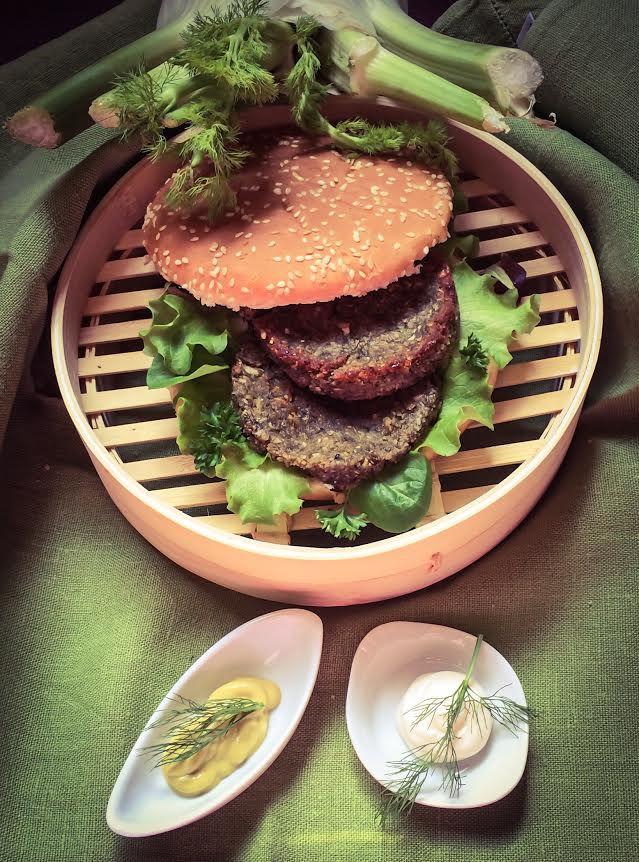 Burger ai Gambi di Carciofo e Finocchi